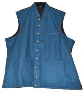 Union Or Confederate Light Blue Officers Waistcoat 9 Button